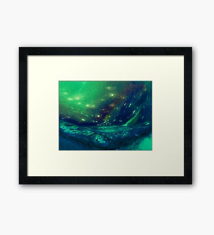 the sky lake Framed Print