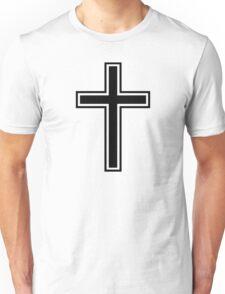 Black christian cross Unisex T-Shirt
