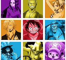 One Piece - Color Coordinated Crew by Azekahh