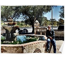 A Stop at La Purisima Mission, CA Poster