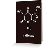 Caffeine Molecule Greeting Card