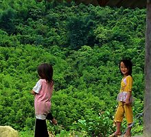 Two Little Girls - Sa Pa, Vietnam. by Tiffany Lenoir