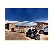 Our Harley at Four Corners Art Print