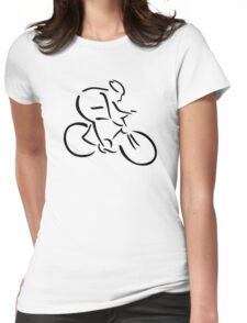 Cycling cyclist Womens Fitted T-Shirt