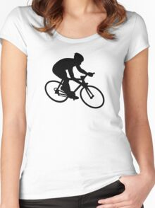 Cycling race Women's Fitted Scoop T-Shirt
