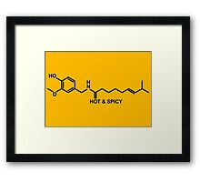 Hot and Spicy: Capsaicin Molecule Framed Print