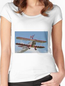 Sarah's Patriotic Pose Women's Fitted Scoop T-Shirt