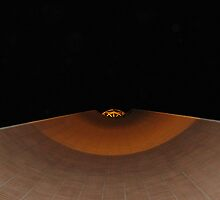 USC Sphere at night  by cfam