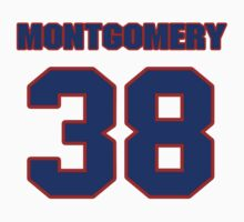 National football player Blanchard Montgomery jersey 38 by imsport