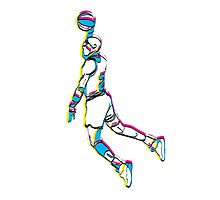 Michael Jordan retro 80's tribute artwork Photographic Print