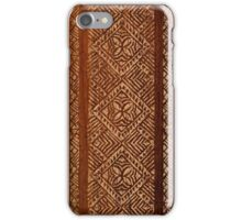 Samoan Tapa Faux Koa Wood Hawaiian Surfboard  iPhone Case/Skin