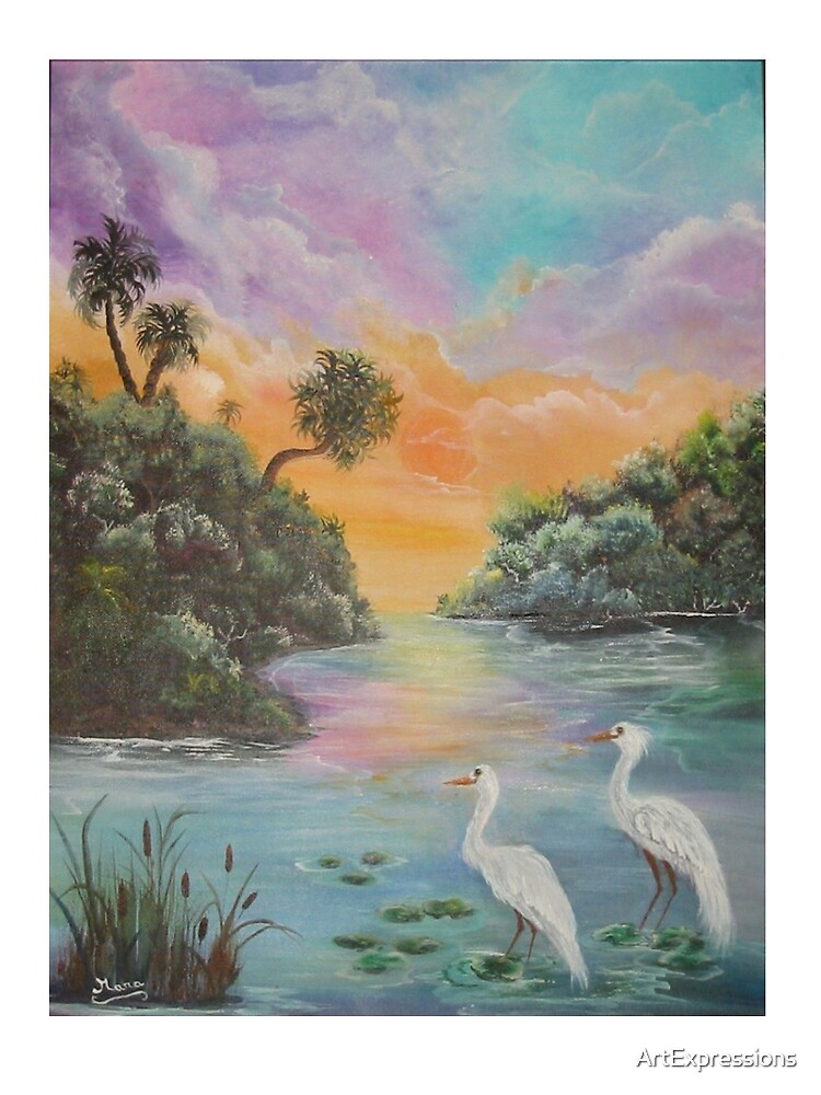 Everglade Sunset revisited by ArtExpressions