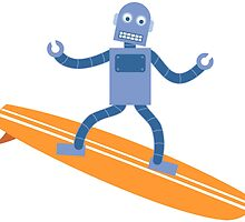 Surfing Robot by pounddesigns