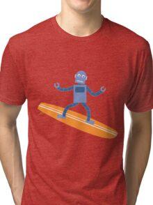 Surfing Robot Tri-blend T-Shirt