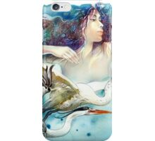 """""""Dancing with Birds"""" - drawing  iPhone Case/Skin"""