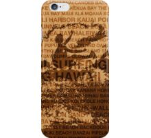 Surfing Hawaii, The Cutback, Hawaiian Surfing Design   iPhone Case/Skin
