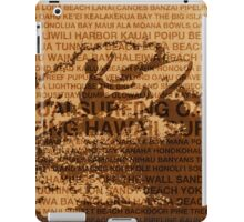 Surfing Hawaii, The Cutback, Hawaiian Surfing Design   iPad Case/Skin