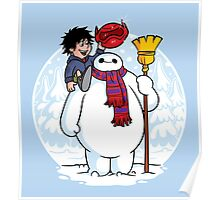 Inflatable Snowman Poster