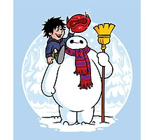 Inflatable Snowman Photographic Print