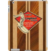 Waimea Hawaiian Faux Koa Wood Surfboard   iPad Case/Skin