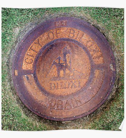 Circle Square - Biloxi Drain Poster