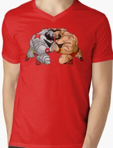Mirror match Mens V-Neck T-Shirt