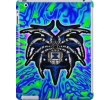 Black Widow Illustrated Chrome Spider - Lime, Royal and Purple iPad Case/Skin