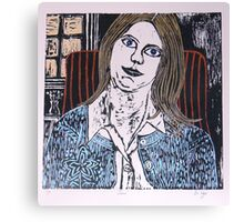 Woodcut Print of Joan  Canvas Print