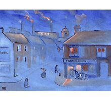 The fish and chip shop (from my original acrylic painting) Photographic Print