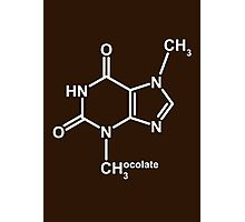 Theobromine Molecule - Chocolate Photographic Print