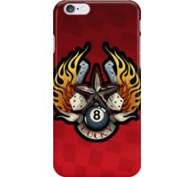 Lucky Star Gambling Illustration - Red Background iPhone Case/Skin