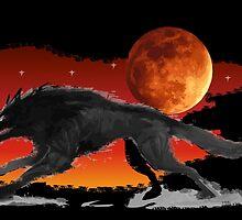 Blood Moon Wolf by WondraBox