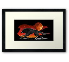 Blood Moon Wolf Framed Print