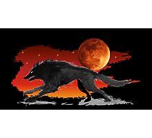 Blood Moon Wolf Photographic Print