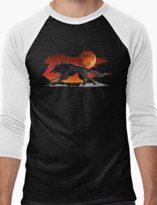 Blood Moon Wolf Men's Baseball ¾ T-Shirt