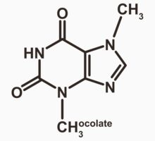 Theobromine Molecule - Chocolate Kids Clothes