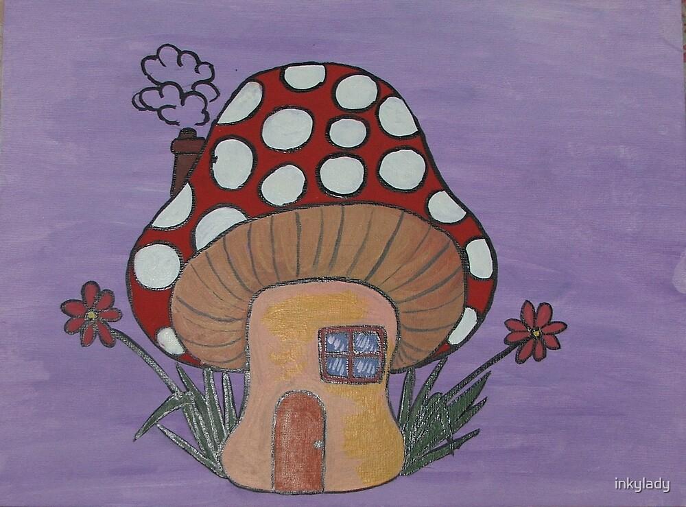 mushroom house 2  by inkylady