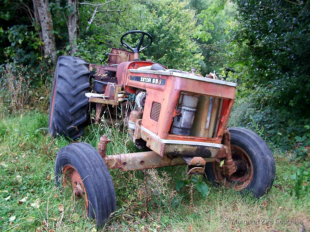 Old Red Tractor - Zetor by Margaret Zita Coughlan