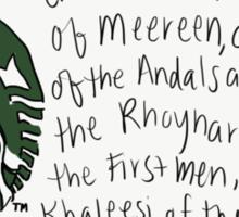 Daenerys Targaryen Sticker