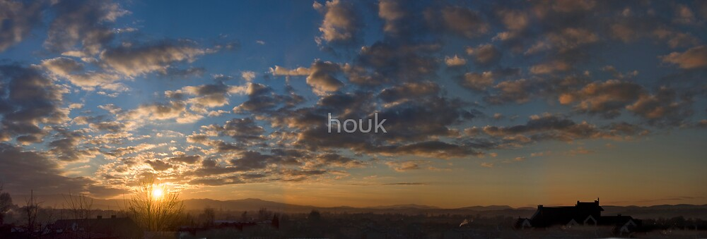 Sunset - panorama by houk