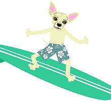 Chihuahua Surfer by pounddesigns