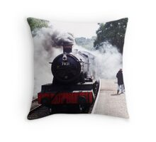 Ditcheat Manor On The Severn Valley Railway Throw Pillow