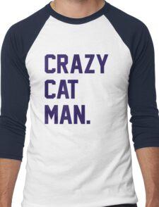 Crazy Cat Man Men's Baseball ¾ T-Shirt