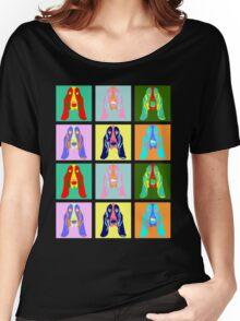Basset Hound Pop Art Women's Relaxed Fit T-Shirt