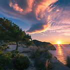 Sunrise from a cliff on the coast by Ralph Goldsmith
