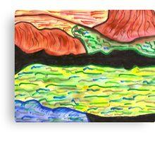 Colorful Desert Canvas Print