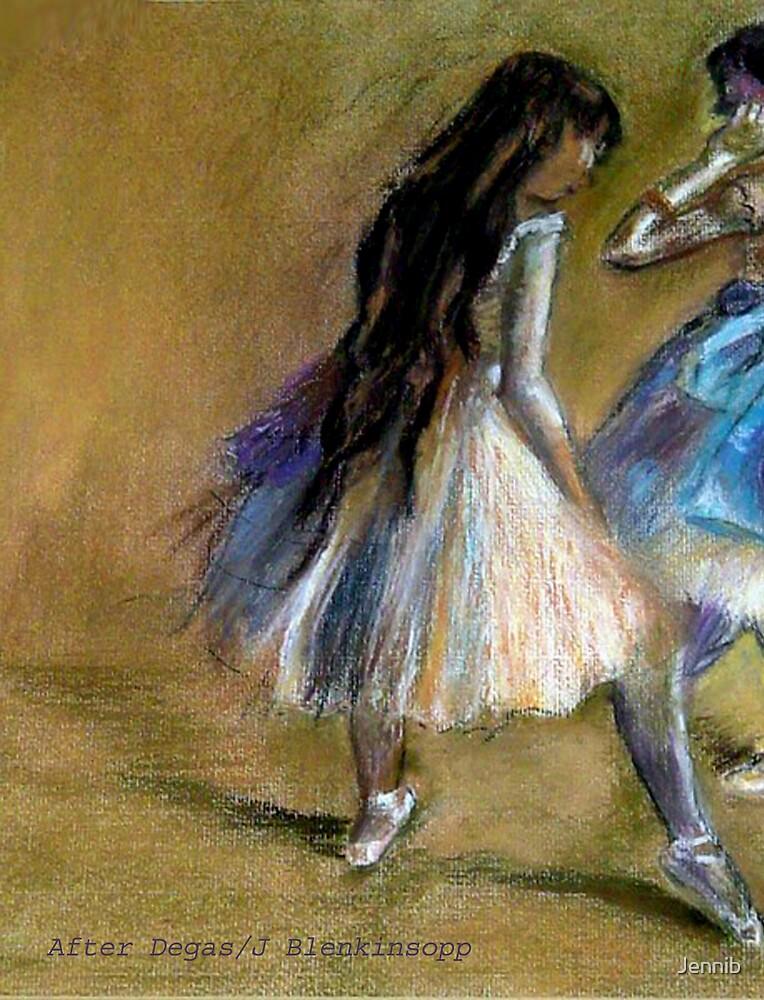 After Degas/ dancers/pastel by Jennib