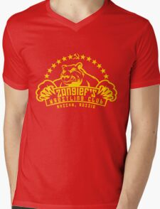 Zangief's Wrestling Club Mens V-Neck T-Shirt