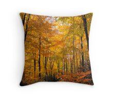 Autumnal Walk Throw Pillow
