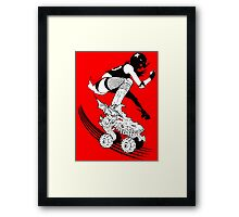 Skates of Wrath Framed Print